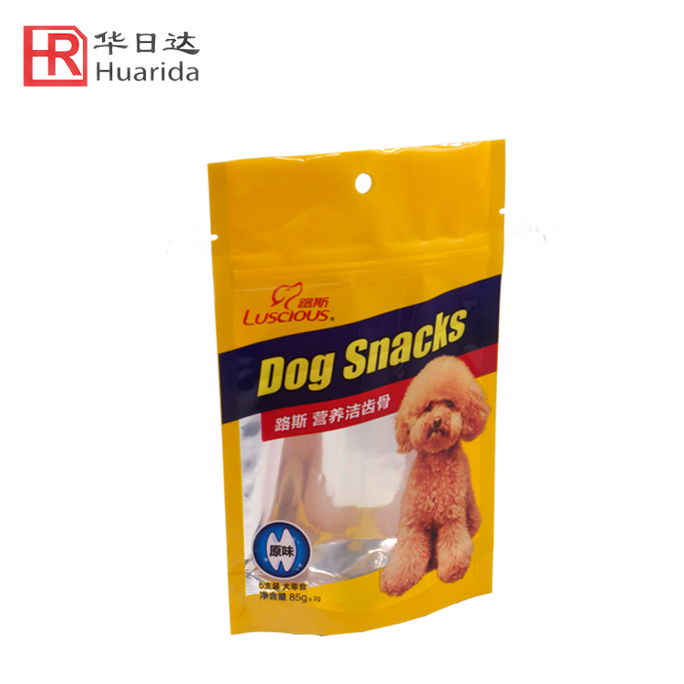 Stand Up ziplock Pouch Bag Pet Dog Cat Food Bag