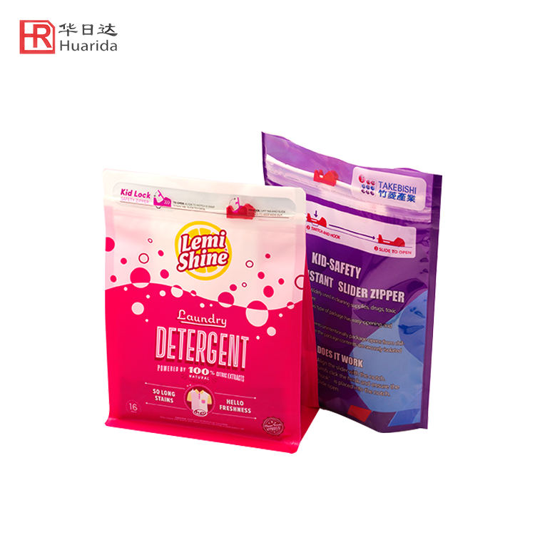 Custom Designer Detergent Packaging Bag Child Proof Plastic Bag
